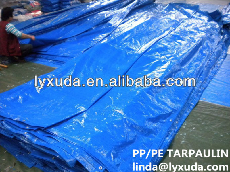 Ready Made Blue Pe Tarpaulin be customize