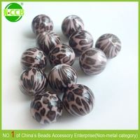 Factory direct sale custom printed acrylic leopard agarwood beads