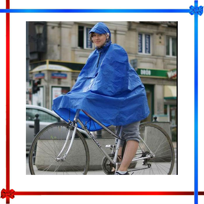 Waterproof PVC bicycle rain poncho