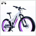 Pink color women big fat tire electric bike
