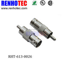 Rohs rf coax bnc female to rca male adapter connectors