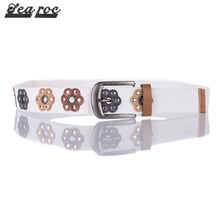 White canvas men's style outdoor cotton web belt material