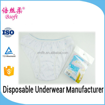 2016 Wholesale disposable woman underwear with printing