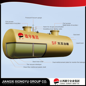 2016 ISO 20 feet 1 tank mobile fuel oil station