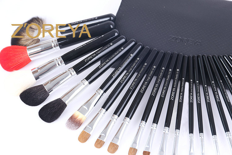 Stock Wholesale 26pcs Private Label Zoreya Goat Hair Best Professional Cosmetic Kit Makeup Brush Set