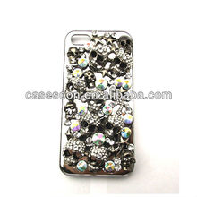 Big Stone skull Diamond Case For iPhone 5,Fashion Bling case for iPhone 5 5G