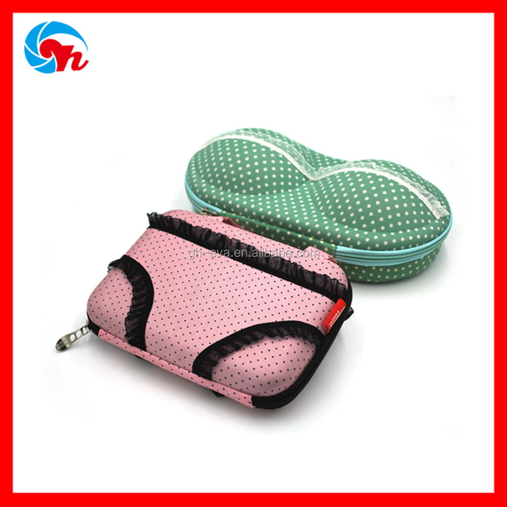 Custom Elegent Underwear packaging Box Panty Case Design with Double mesh Pocket