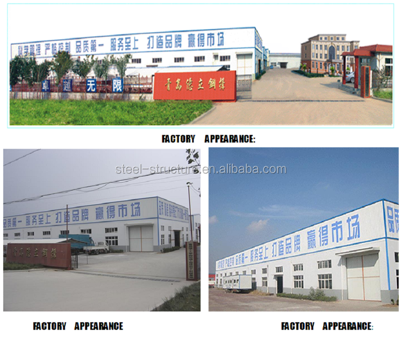 Chinese steel construction building with light frame