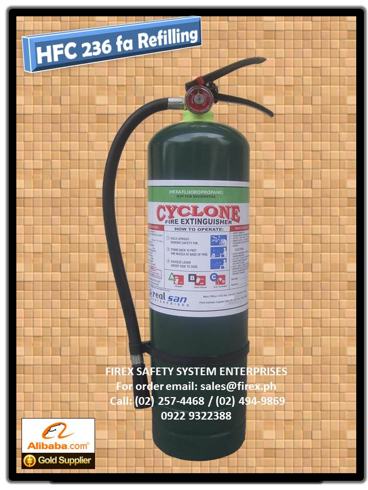 HFC 236 fa Fire Extinguisher refilling