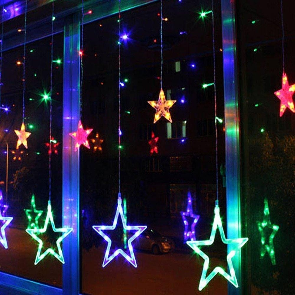 Christmas Light China Supplier Outdoor Decorative RGB LED Star Icicle Lights for Home Window