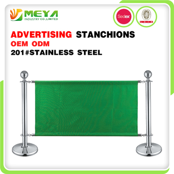 Advertising Board Stands Sign Barrier Floor Stands Display Metal Stand For Posters