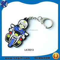 Rubber keyring, custom rubber keyring, rubber motorcycle keyrings