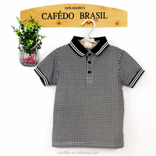 Knitted classic polo baby clothes boy polo t shirts wholesales