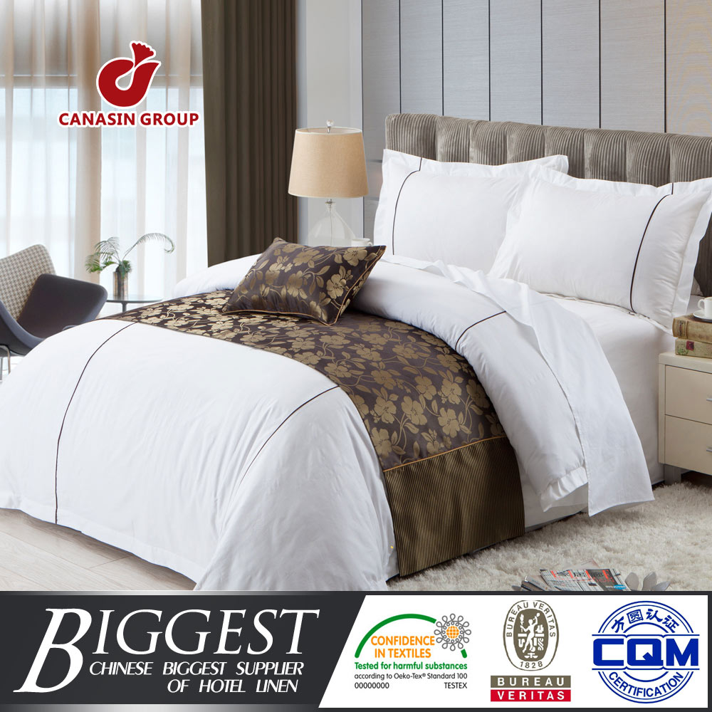 sateen with piping cotton commercial bed linen