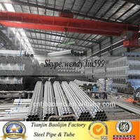3/4inch Hot Galvanized Steel Pipe with Threaded ends packed in bundles
