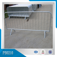 Galvanized Long Time Anti-rust Pedestrian Roadside Barriers For South America