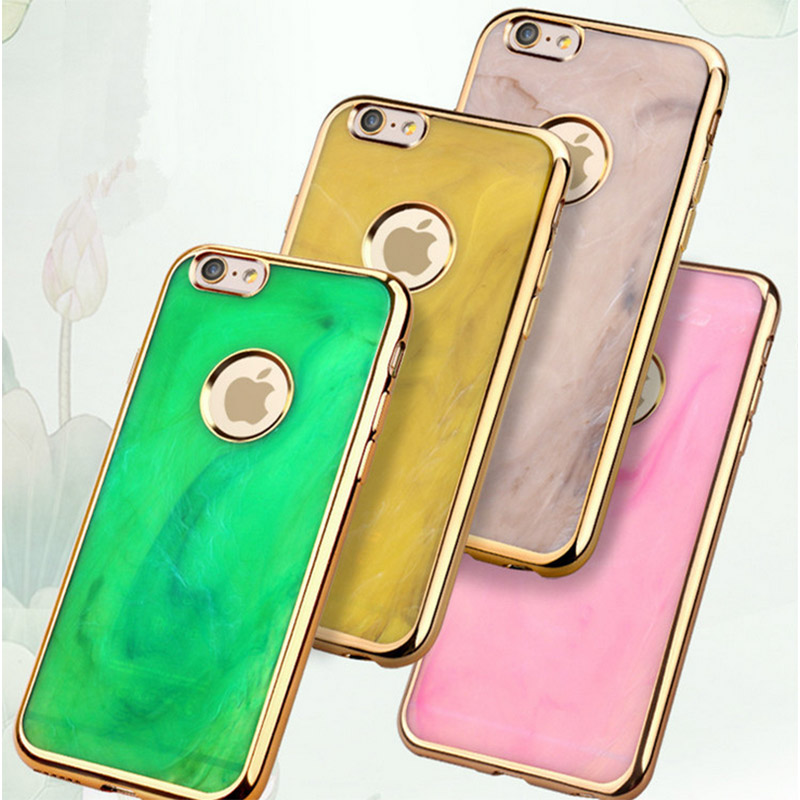 Chrome Emerald Silicone TPU Gel Soft Back Case Cover For iPhone 6 6s