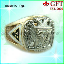 Hot sales Zinc alloy Gold /Silver Mens 3D Rings GFT-MR006