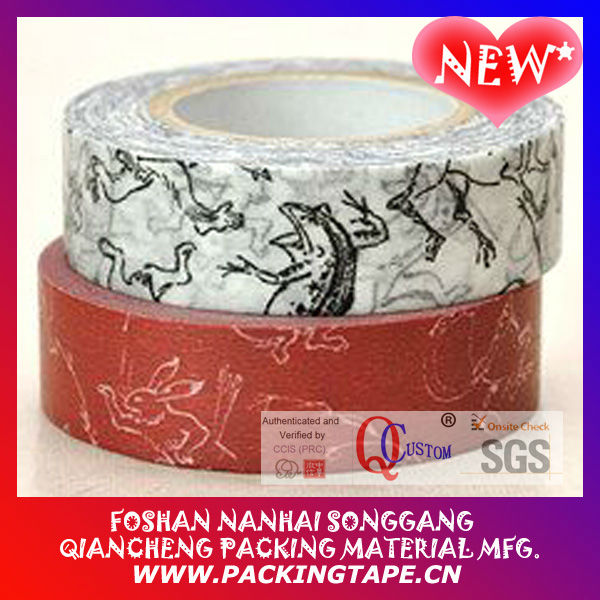custom 15mm frog rice tape for decoration SGS
