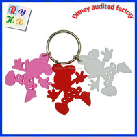 Wedding souvenirs wholesale custom rubber trolley coin keyring