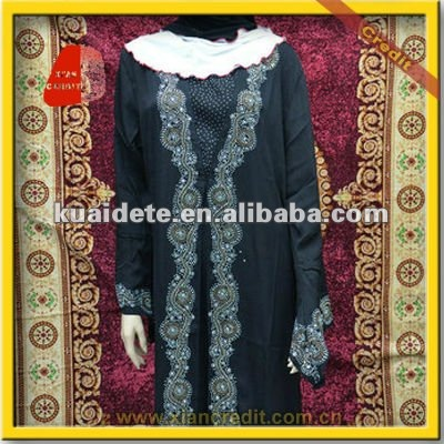 2016 Fashionable muslim lady long abaya NPZ-152
