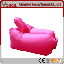 2017 Top-sell 210T terylene 145X70cm modern Rose red color Inflatable Air Banana Sleeping bags