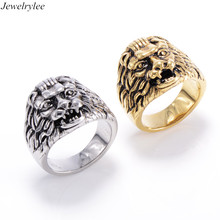 Stainless steel jewellery wholesale cheap angry lion of judah ring dubai gold plated rings mens jewelry