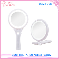 Oval foldaway makeup mirror with 8pcs LED light LED round mirror