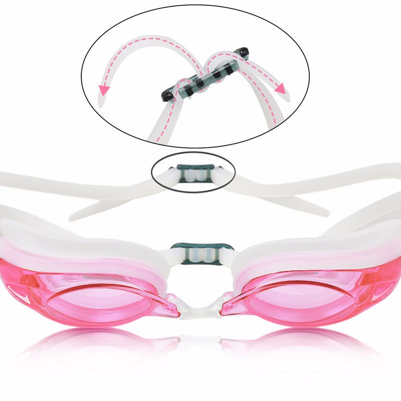 Swimming Goggles G4 for Adult Unisex with Anti-fog Mirror Coating Lens Interchangeable Nose Bridges Swim Goggles