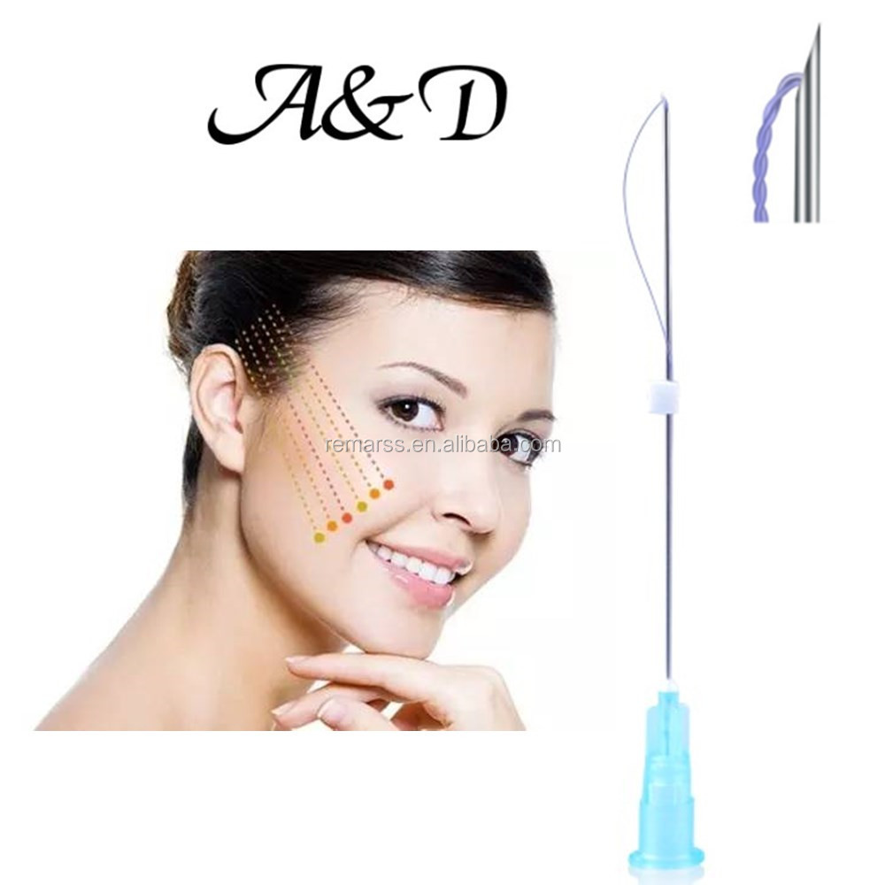 Aesthetic medical skin elasticity face double threads with CE