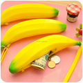 Popular Silicone Coin Pouch Kids Coin Purse with Zipper Portable Silicone Banana Pouch