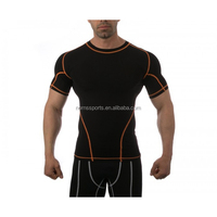 Custom made performance compression shirts men sports elastane tracksuit