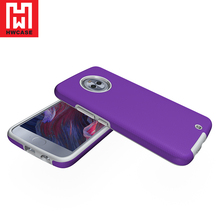 HWcase China supplier TPU + PC Purple mobile phone Rugged Case for Moto X4