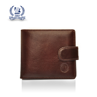 Name brand custom high quality RFID blocking bifold man leather wallet