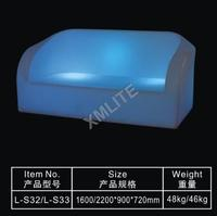 remote control rechargeable illuminated led sofa for bar,nightclub,event