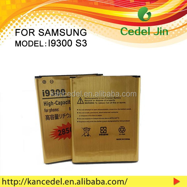 3.7v 2850mah gb t18287-2000 mobile phone battery for Samsung Galaxy S3 T999 E210S M440S L710 i9300T i9300 battery