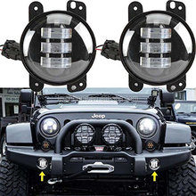 "Hot Selling 4"" Round Halo Ring led fog light With Drl Running Angle Eye Led Fog Lamp For Jeep wrangler Toyota"