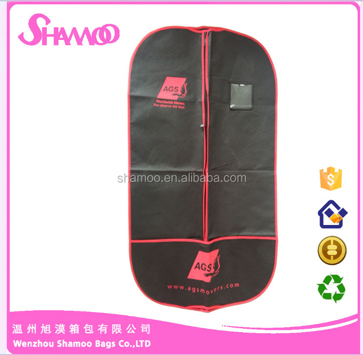 customized Eco-friendly Non-woven Garment Bag ,Foldable Garment Suit Covers