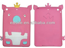3d Pig Silicone Case For iPad Mini