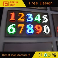 Modern 3D LED Light Channel Letter Number Sign Made In China