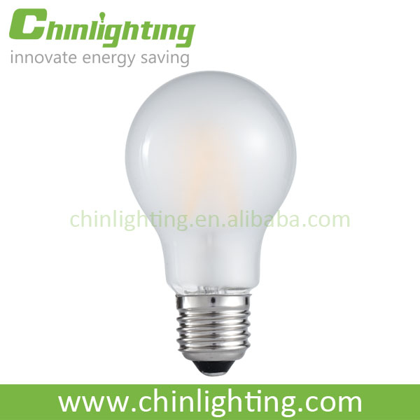 Energy saving lamps frosted LED bulb filament A60F 6W E27 with dimmable & non-dimmable