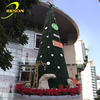 Giant PVC Snowing Christmas Tree Light Up