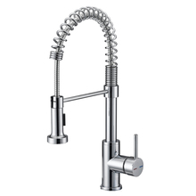 Brass kitchen mixer tap Spring pull down upc kitchen faucet with single lever
