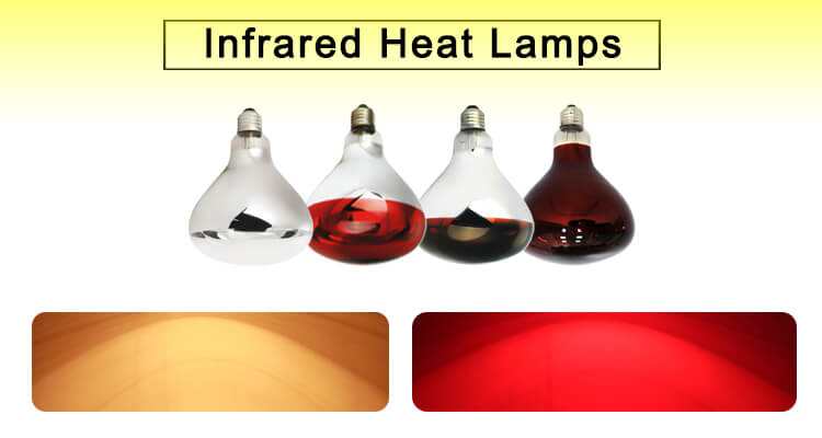 Factory supply 175w 220v red color infrared heating lamp bulbs