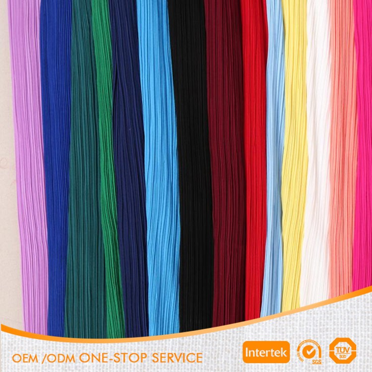 Many colors supply pure pleated chiffon fabric for elegant dress