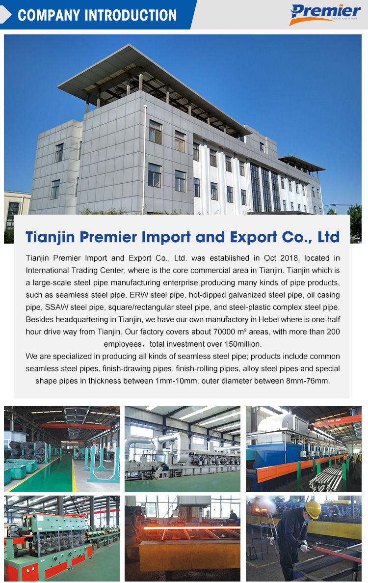 Premier Hot selling  api 5l standard seamless steel pipe for machine Equipment with high quality