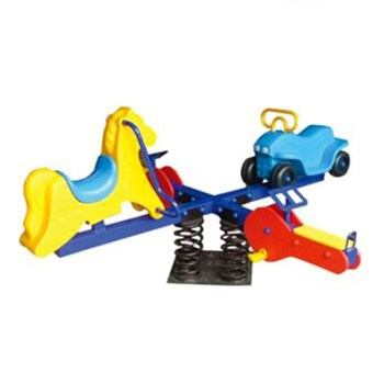Factory wholesale Price Popular animal Style Kids Favorite Outdoor Seesaw Four Seat HF-G216J