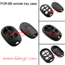 Toyota designs car key blanks key case with 6 buttons remote key fobs no rubber pad