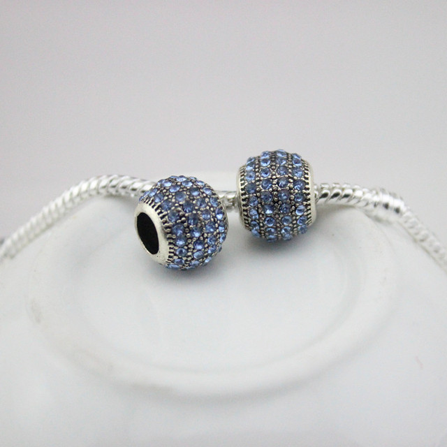 DGW 12 colour Alloy Charm safety Bead Fits European Pandora Charm Bracelets & Necklaces