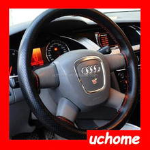UCHOME DIY Leather Car Auto Steering Wheel Cover With Needles and Thread Black hot sale